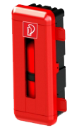 Feuerlöscherzubehör Schutzbox Kunststoff